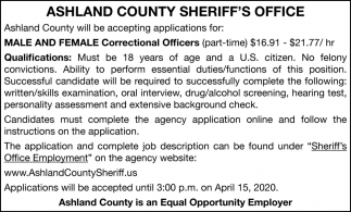 Male and Female Correctional Officers