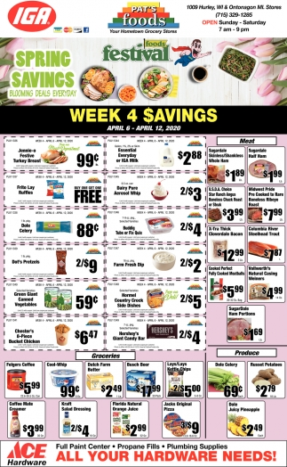 Week 4 Savings