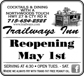 Reopening May 1st