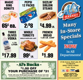 Many In-Store Specials