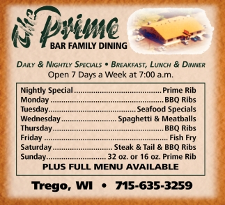 Daily & Nightly Specials