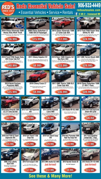 Essential Vehicle Sale