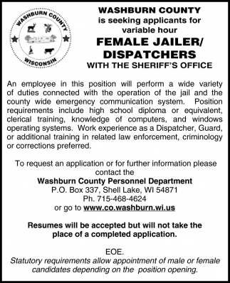 Female Jailer/Dispatchers