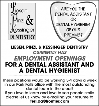 Dental Assistant and a Dental Hygienist