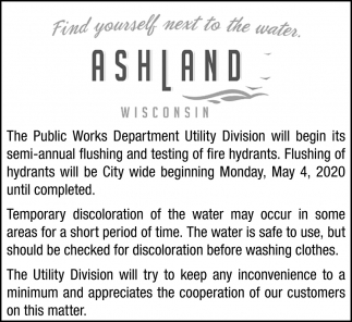 Semi-Annual Flushing and Testing of Fire Hydrants