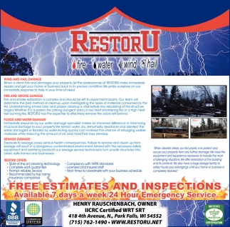 Free Estimates and Inspections