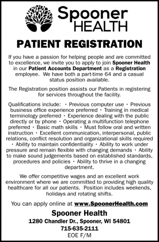 Patient Registration
