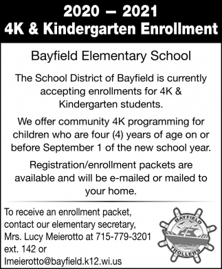 4K & Kindergarten Enrollment