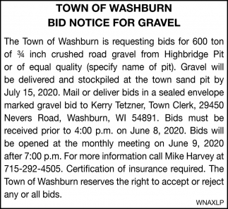 Bid Notice for Gravel