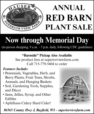 Red Barn Plant Sale