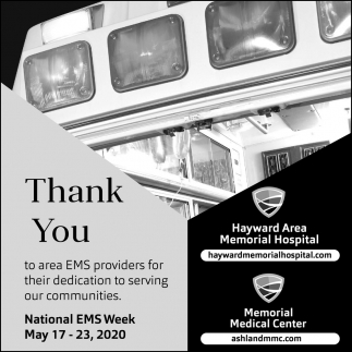 Thank You to Area EMS Providers