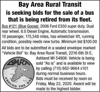 Bid for the Sale of a Bus