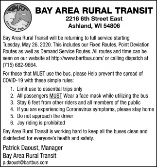 Bay Area Rural Transit