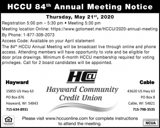 Annual Meeting Notice