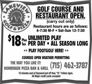 Golf Course and Restaurant Open
