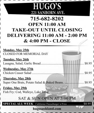 Take-Out Until Closing