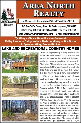 Lake and Recreational Country Homes