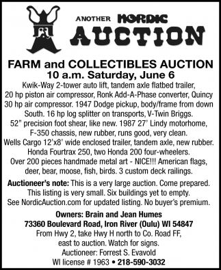 Farm and Collectibles Auction