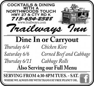 Dine In or Carryout