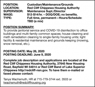 Custodian/Maintenance/Grounds