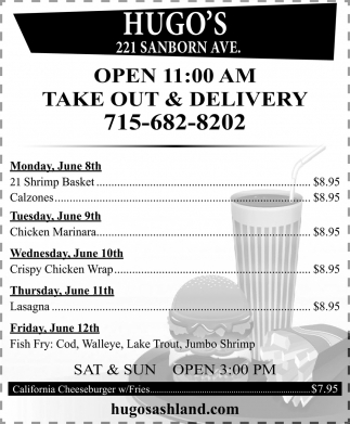 Take Out & Delivery