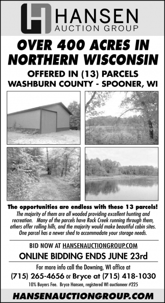 Over 400 Acres In Northern Wisconsin