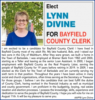 for Bayfield County Clerk