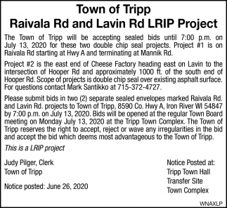 Raivala Rd and Lavin Rd LRIP Project