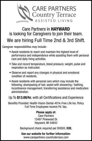 Full & Part Time 2nd & 3rd Shifts