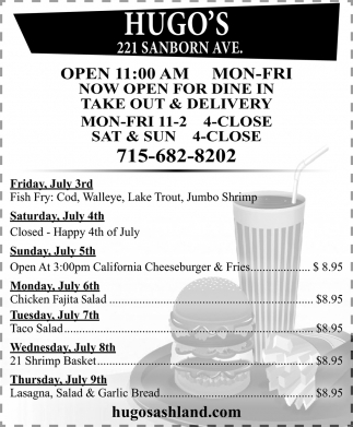 Dine In, Take Out & Delivery