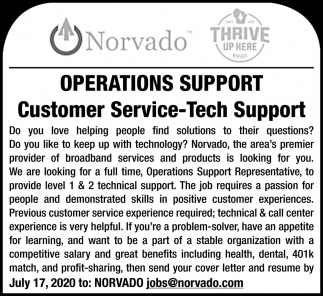 Customer Service-Tech Support