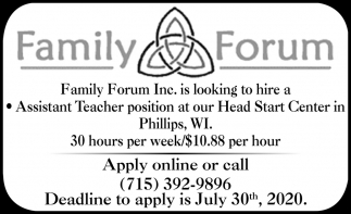 Assistant Teacher Position