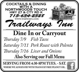 Dine In or Carry Out