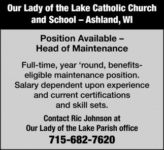 Head of Maintenance