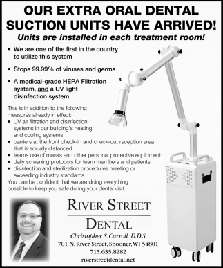 Our Extra Oral Dental Suction Units Have Arrived