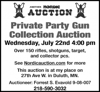 Private Party Gun Collection Auction