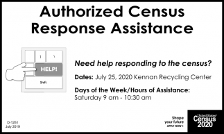 Authorized Census Response Assistance