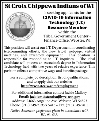 COVD-19 Information Technology Resource Member