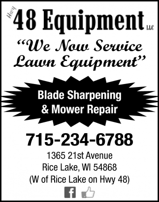 We Now Service Lawn Equipment