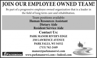 Join Our Employee Owned Team