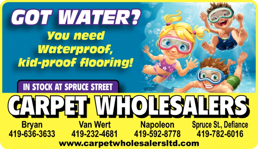 Got Water? You Need Waterproof, Kid-Proof Flooring!