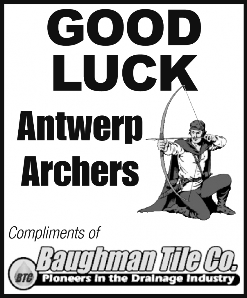 Good Luck Antwerp Archers