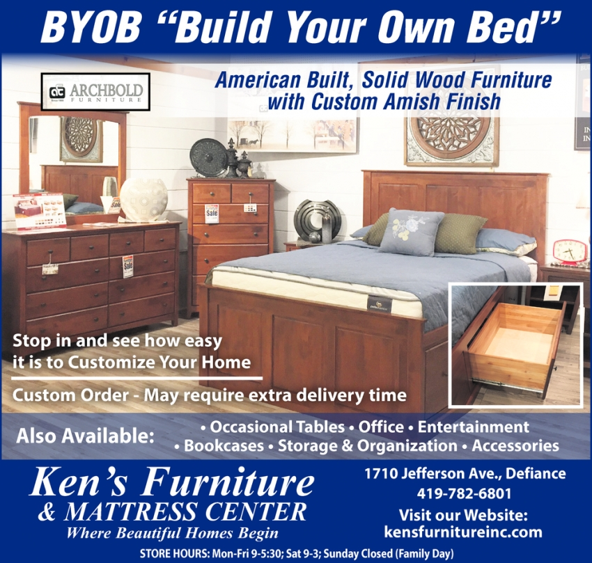BYOB ''Build Your Own Bed''