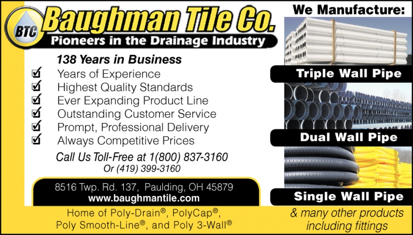 Pioneers in The Drainage Industry