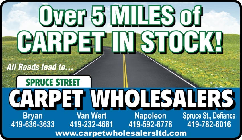 Over 5 Miles of Carpet in Stock!