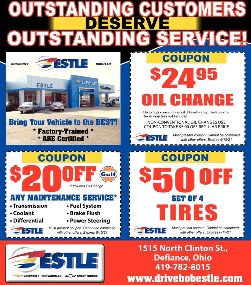 Outstanding Customers, Outstanding Service!