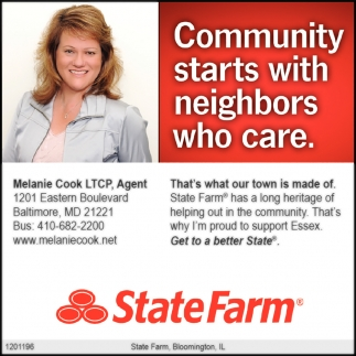 Community Starts With Neighbors Who Care Melanie Cook Statefarm Baltimore Md