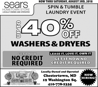 Up to 40% OFF Washers & Dryers
