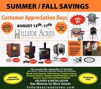 Summer / Fall Savings