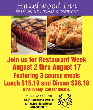 Join us for Restaurant Week